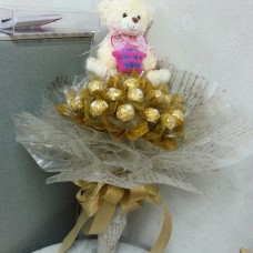Rocher bouquet with bear