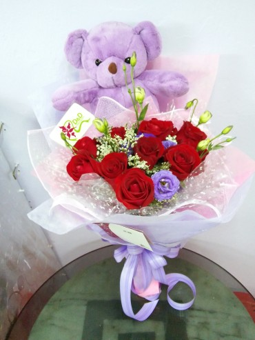 HB ROSE WITH BEAR