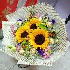 HB SUNFLOWER & ROCHERS