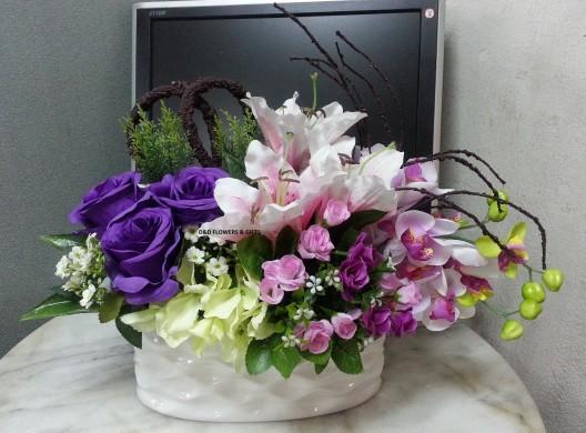 Artificial Flower Arrangement Flowers Delivery Singapore